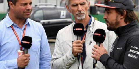 فرناندو آلونسو ، دیمون هیل و تد کراویتز - گرندپری بریتانیا 2017