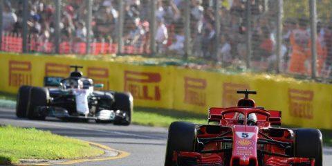 سباستین فتل و لوئیس همیلتون - مسابقه استرالیا 2018