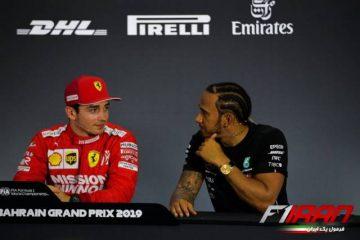 لوئیس همیلتون و چارلز لکلرک - بحرین 2019