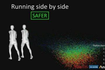 شبیه سازی سه بعدی انتقال ویروس کرونا