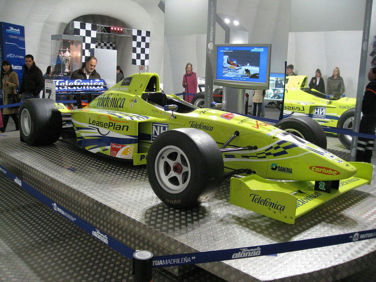 ماشین فرناندو آلونسو در مسابقات فرمول 3000