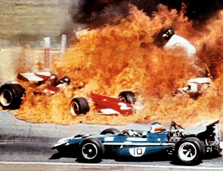 تصادف جکی ایکس و جکی الیور در گرندپری اسپانیا 1970