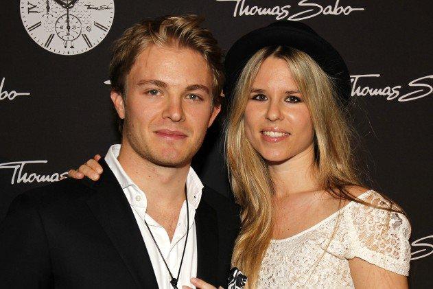 نیکو روزبرگ و همسرش