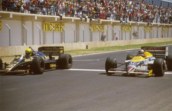 رقابت آیرتون سنا و نایجل منسل - گرندپری اسپانیا 1985