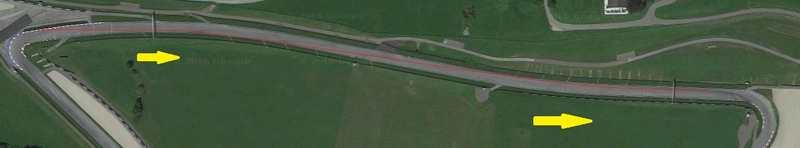 در تصویر فوق خط قرمز، نشان دهنده ی مسیر حرکت رانندگان بین پیچ های 2 و 3 را نشان می دهد.