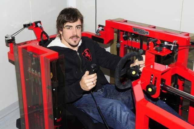 تمرینات بدنسازی رانندگان فرمول یک - فرناندو آلونسو