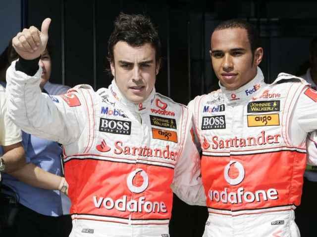 لوئیس همیلتون و فرناندو آلونسو مک لارن 2007