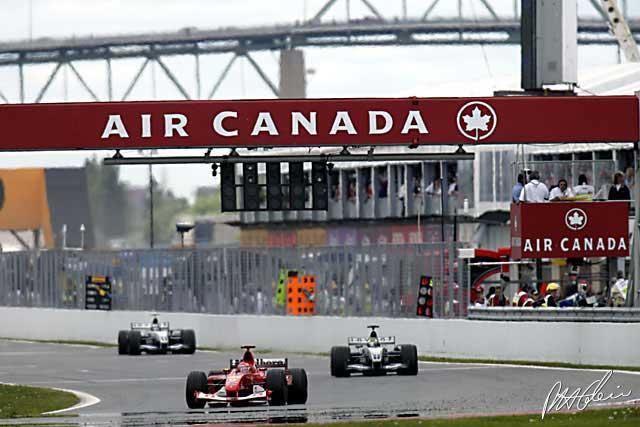 شوماخر در مسابقه ی کانادا