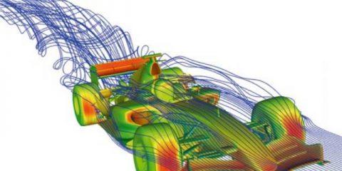 خودرو فرمول یک در تونل باد