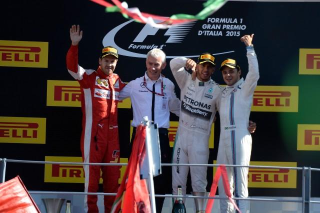 سکوی مسابقه ی گرندپری ایتالیا 2015