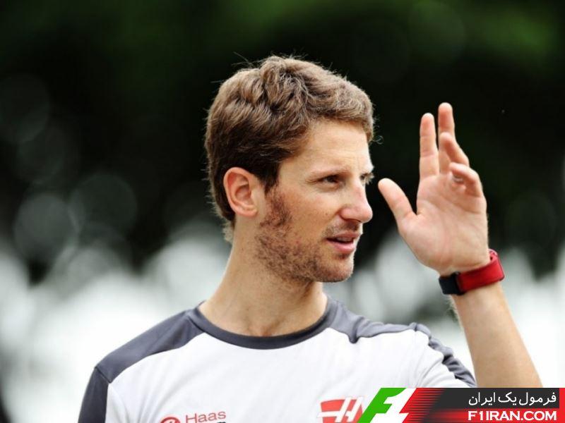 رومن گروژان - راننده تیم هاس در سنگاپور