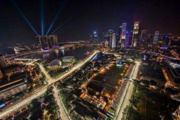 مارینا بی سنگاپور در شب