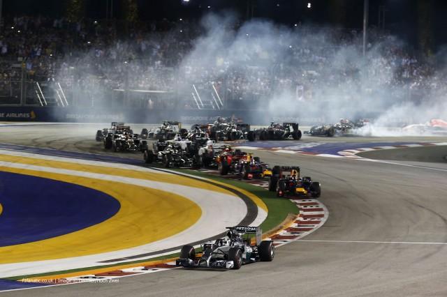 استارت مسابقه ی سنگاپور سال 2014