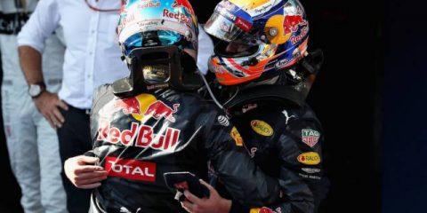 دنیل ریکاردو و مکس ورشتپن - مسابقه فرمول یک مالزی 2016