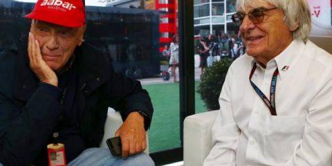 برنی اکلستون و نیکی لائودا