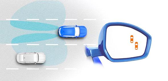 سیستم تشخیص دهنده نقطه کور و ترافیک پشت سر