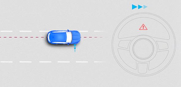 سیستم نگه دارنده خودرو بین خطوط (LKA) جگوار F-PACE