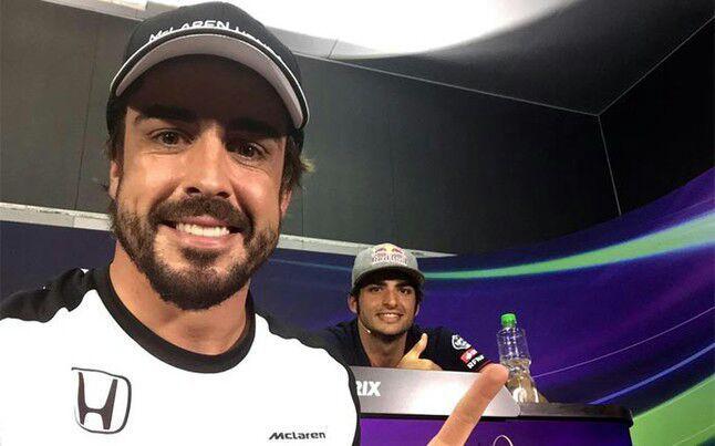 فرناندو آلونسو و کارلوس ساینز