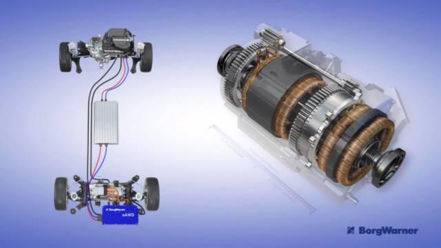 اکسل برقی خودرو هایبرید ولوو با کمک سیستم گشتاور برداری 1.5 موتوری و میله تعادل