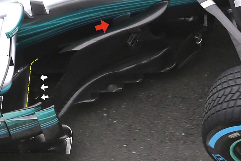 Mercedes W08 Bargeboard's Leading PL