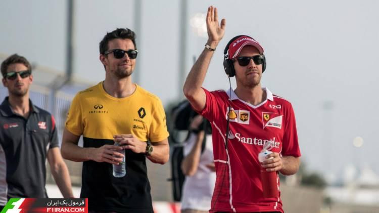 سباستین فتل و جولین پالمر - گرندپری بحرین 2017