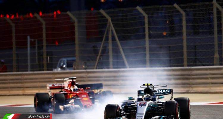 والتری بوتاس و سباستین فتل - گرندپری بحرین 2017