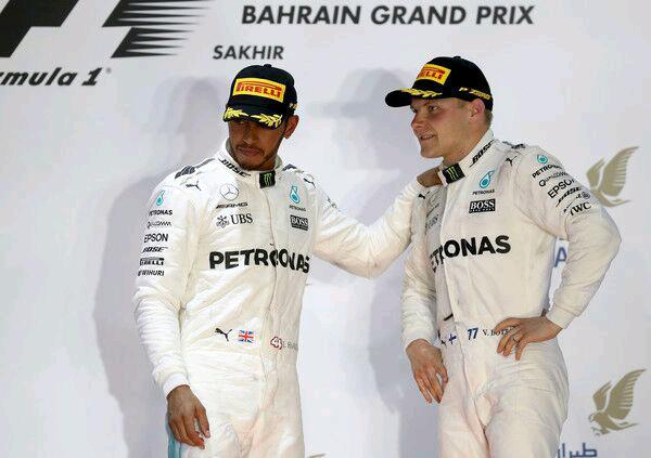 لوئیس همیلتون و والتری بوتاس - گرندپری بحرین 2017