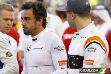 فرناندو آلونسو و استافل وندورن - مسابقه بحرین 2017