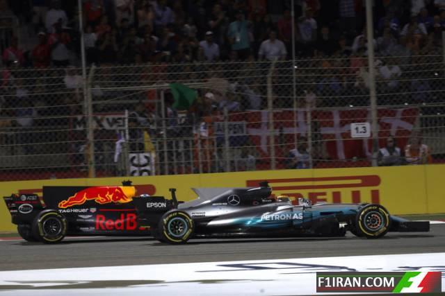 دنیل ریکاردو و لوئیس همیلتون - بحرین 2017