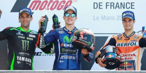 دنی پدروسا ، ماوریک وینالس و یوهان زارکو - مسابقه موتوجی پی فرانسه 2017