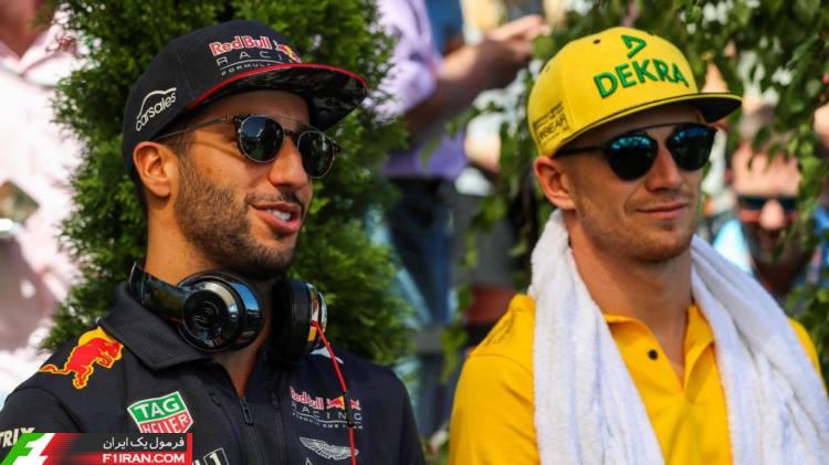نیکو هالکنبرگ و دنیل ریکاردو - مسابقه گرندپری مجارستان 2017