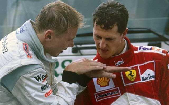 میکا هکینن و مایکل شوماخر- اسپا - بلژیک - 2000