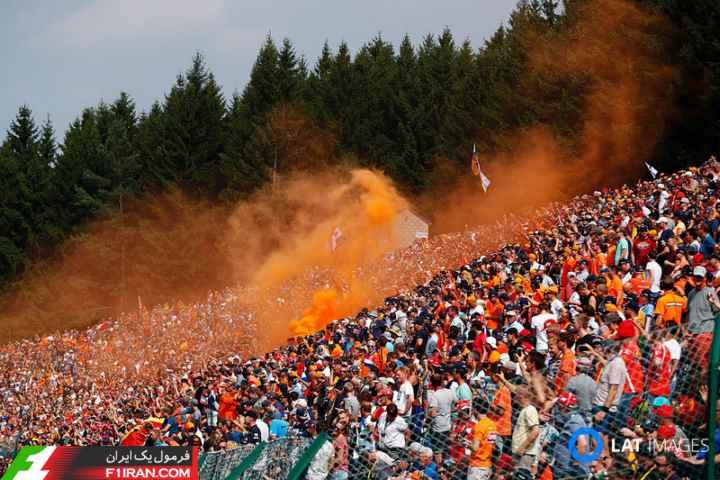 طرفداران هلندی مکس ورشتپن - گرندپری بلژیک 2017