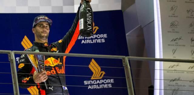 رده دوم دنیل ریکاردو در سنگاپور - 2017