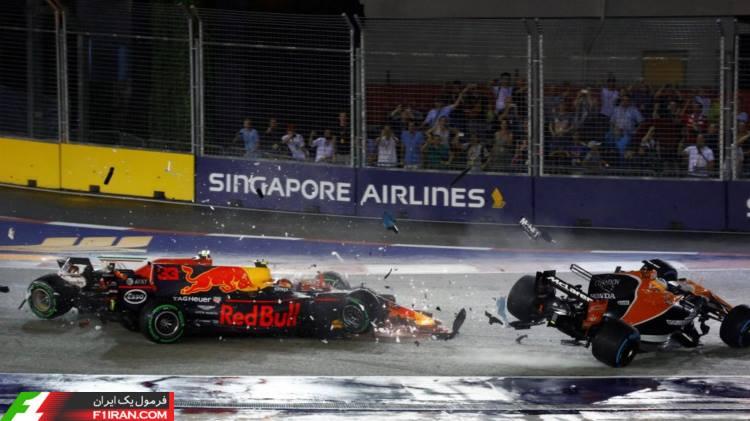 کیمی رایکونن و مکس ورشتپن - گرندپری سنگاپور 2017