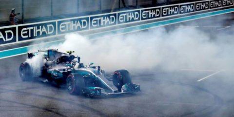 خوشحالی والتری بوتاس بعد از مسابقه ابوظبی - 2017