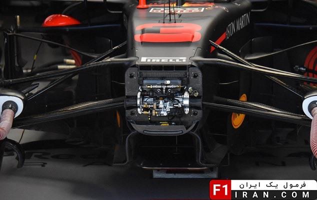جزئیات سیستم تعلیق بخش جلویی ماشین RB14 تیم ردبول