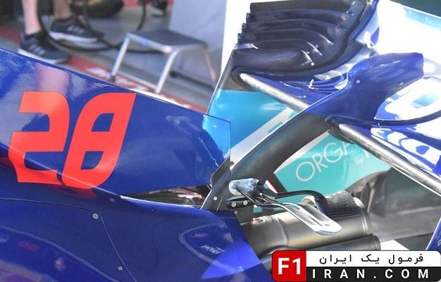 جزئیات بخش پشتی ماشین STR13 تیم تورو روسو