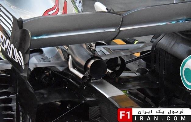 جزئیات بالچه پشتی ماشین W09 تیم مرسدس