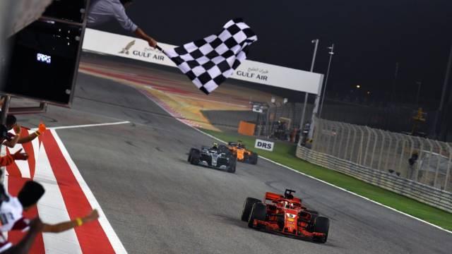 پایان مسابقه بحرین - 2018