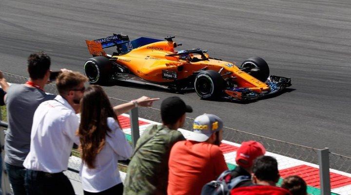 Fernando alonso in spain gp