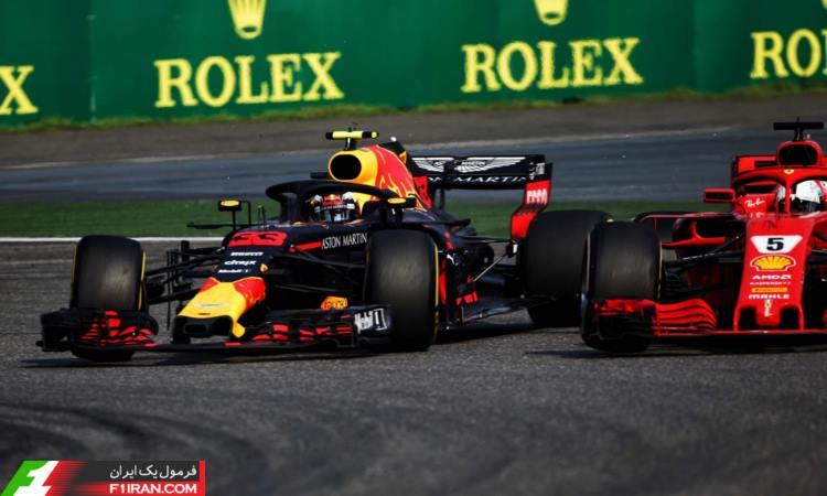 مکس ورشتپن و سباستین فتل - مسابقه گرندپری چین 2018
