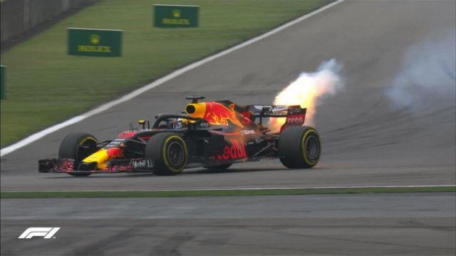 آتش گرفتن موتور ریکاردو