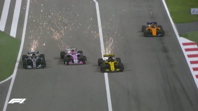 سبقت سه گانه لوئیس همیلتون - بحرین 2018