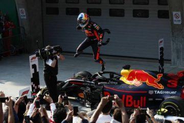 خوشحالی ریکاردو بعد از مسابقه - چین 2018