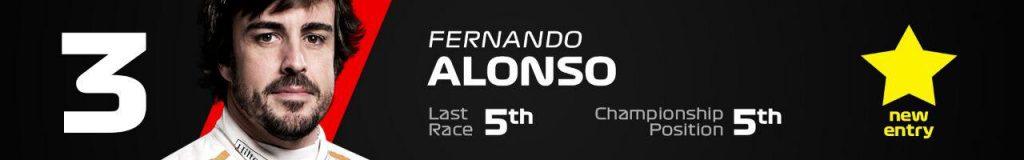 3- فرناندو آلونسو ؛ مک لارن