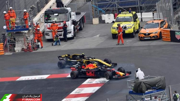 کارلوس ساینز و مکس ورشتپن - مسابقه فرمول یک موناکو 2018