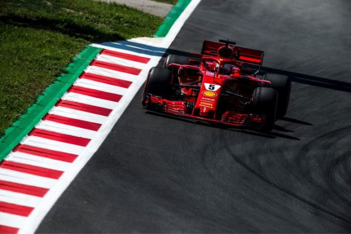 Seb vettel in spain gp