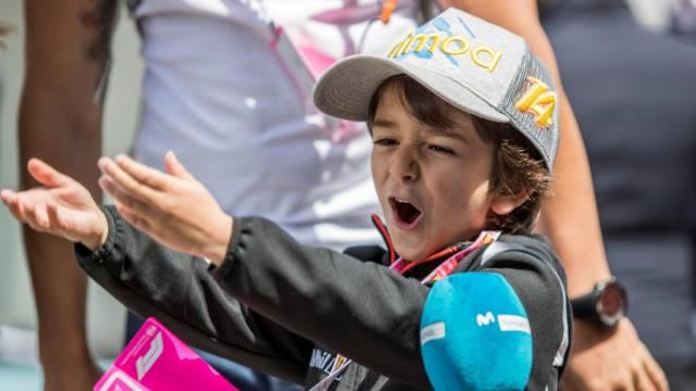 طرفدار کوچک فرناندو آلونسو - اسپانیا 2018