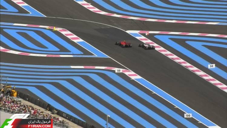 کیمی رایکونن و کوین مگنوسن - مسابقه فرمول یک فرانسه 2018